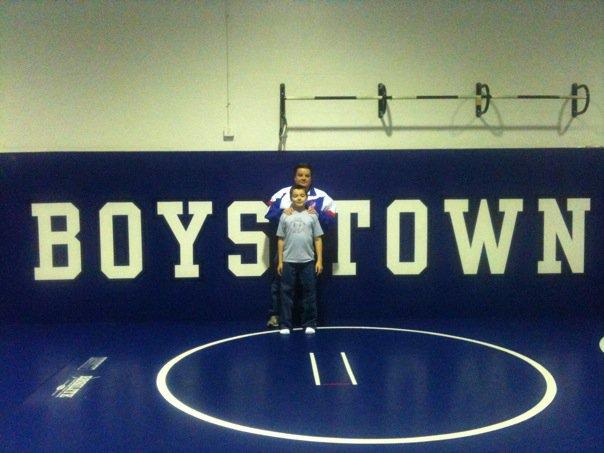 Anthony and Adam BT Wrestling Room