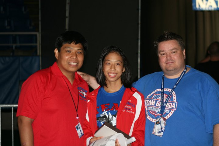 Anthony and Bryan with Amy Hou Womens National Champion