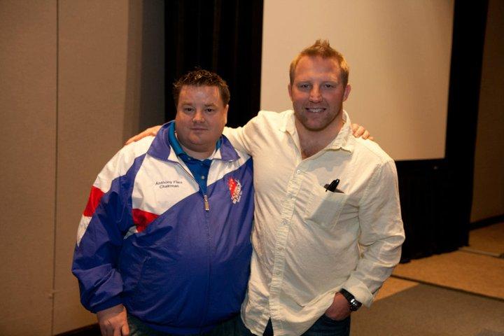 Anthony with Brandon Slay Olympic Champion
